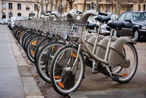 met de fiets door Parijs